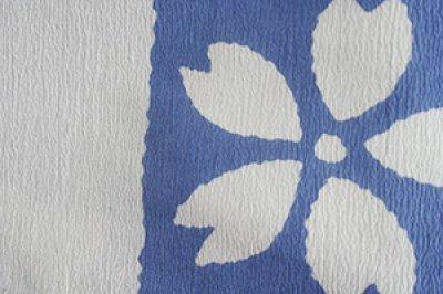 画像1: 市松絞り  ホワイト/薄藍