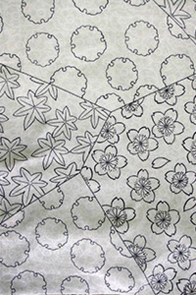 画像1: 小紋尽くし ホワイト (1)
